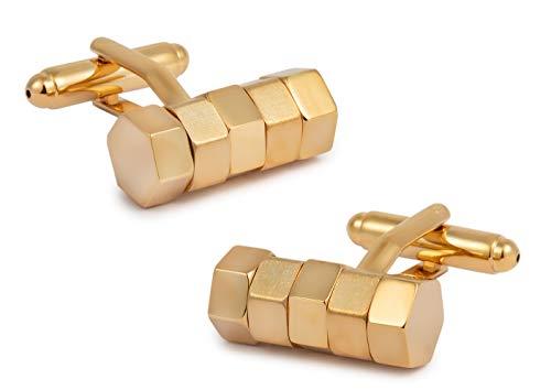 Gemelolandia   Gemelos de Camisa World Nut Golden 19x8mm Gemelos Originales Para...