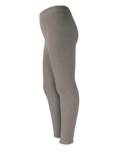 maximo Mädchen Legging Vollfrotteeleggings, Grau (graumeliert 5), 134 (Herstellergröße: 134/146)