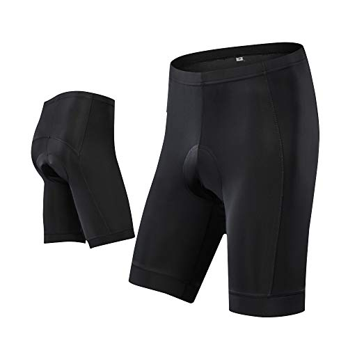 Men's Cycling Shorts Padded Bicycle Riding Pants Bike Biking Clothes Quick-Dry Pants Tights Black XL