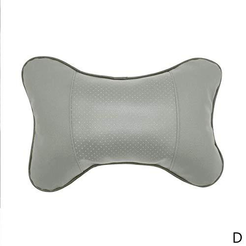 Cojín de cojín de almohada de malla transpirable para asiento de coche con espuma viscoelástica súper suave para asiento de coche, cojín de reposacabezas (plata)