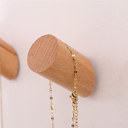 Coat Hook,Wall Hanging Hooks,2 Pack Decorative Wall Hook,Small Beech Wood Peg,Bohemian Door Hooks, Wall Mounted Coat Racks for Hat ,Backpack , Towel, Key,Purse
