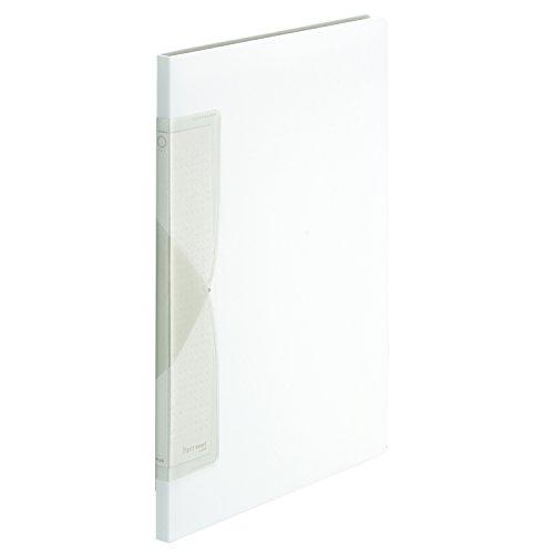 プラス クリアファイル A4縦 20ポケット Pasty smart ホワイトグレー 98-687