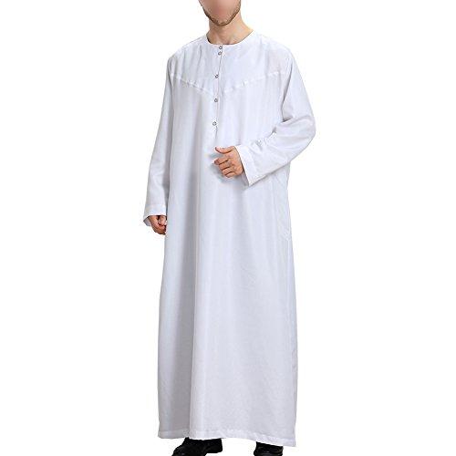 Zhuhaixmy Muslim Arabisch Mittlerer Osten Langarm Solid Color Herren Robes Saudi Stil Dishdasha Ethnische Kleidung Pakistan Hindu Jüdisch islamisch Kaftan,TH808