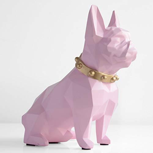 Kassa MYKK Spaarpot Hars Hond Beeldje Home Decoraties Munt Opbergdoos Houder Speelgoed Kind Geschenk Spaarpot 19.5 * 18.5 * 9.5cm Roze