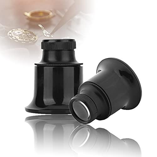 Lupa Relojero, Lupa de Joyero Lupa de Ocular 20x Lupa Gafas Lente de Doble Vidrio para Reparación Joyero de Reloj
