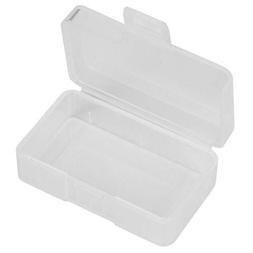 Caja de almacenamiento de batería de 9V, caja protectora de organizador de caja de almacenamiento portátil transparente de 5 piezas para batería de 9V