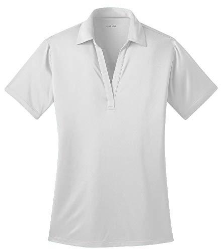 Joe's USA Silk Touch Golf Polo Shirt, 4XL-White