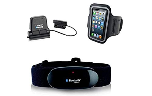 Cinturón Pectoral con Bluetooth + Pulsera Iphone + Speed Cadence Bluetooth Sensor Para Iphone 4S, 5,5.C, 5S, 6,6S Para Runtastic, Wahoo Sensor de Cadencia y Velocidad Cuchillo
