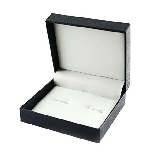 Doitsa Geschenk Schmuckkästchen Schlange Manschettenknöpfe Box dreifarbige Kunstleder gefüttert Geschenkbox 7 * 8 * 3CM Schwarz B