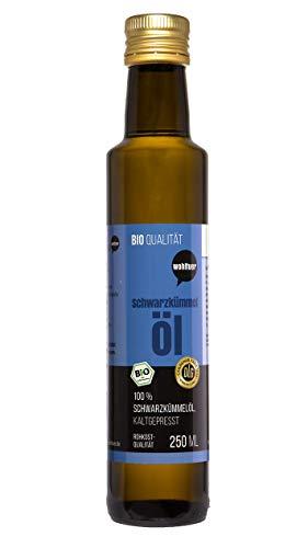 Weltuer Bio zwarte komijn olie 250 ml - koudgeperst in rauwkostkwaliteit I biologisch gecertificeerde Egyptische grondstof