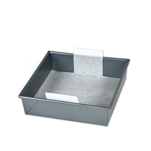 8 inch Square Perfect Parchment Paper - 24 Pack Pre-Cut Parchment Sheets for Cake Pans.