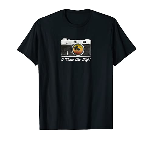 Linda I Chase La Luz Vintage Cámara Fotografía Camiseta