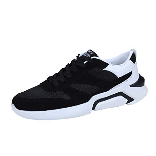 Scarpe Uomo Sportive MINXINWY da Corsa Casual Traspiranti Sneaker Calzature Comode in Tinta Unita con Rete a Nido D'Ape Sneakers Leggere Ginnastica Mesh Intrecciato Traspirante Scarpe
