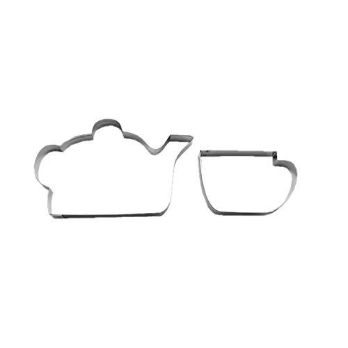 Cuttersweet 1 Keks - Ausstecher Teekanne | Kaffeekanne | Tasse | Kännchen
