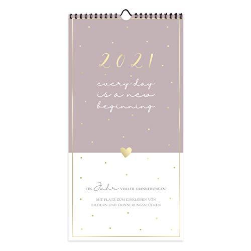 Kalender Planer für Zwei 2021 zum Selbstgestalten | Paarplaner Fotokalender, Bastelkalender, Wandkalender mit 3 Spalten | zum Basteln und Beschriften