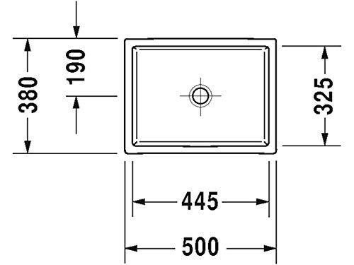 Duravit Aufsatzbecken Vero Air 500m WonderGliss, 23515000001