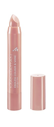 Manhattan Endless Colour & Shine Lip Butter – Lippenstift mit langanhaltendem Farbglanz in Beige – Farbe Nude To Go 100 – 1 x 3g