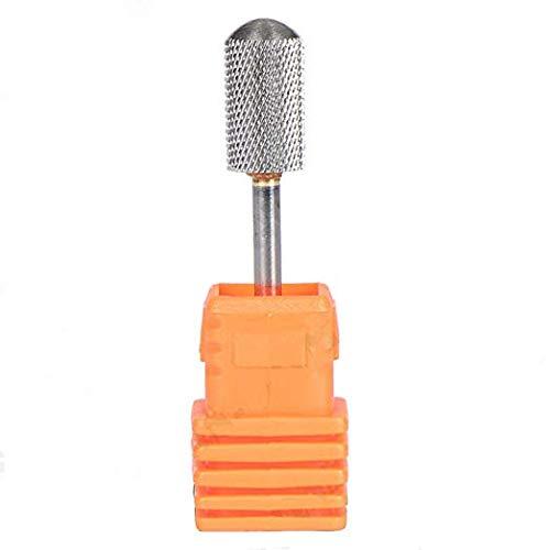 PPX Broca Cilíndrica de Carburo de Tungsteno Profesional Para Manicura Pedicura y Callosidades – Fresa Prémium Para Torno de Uñas (Fine)