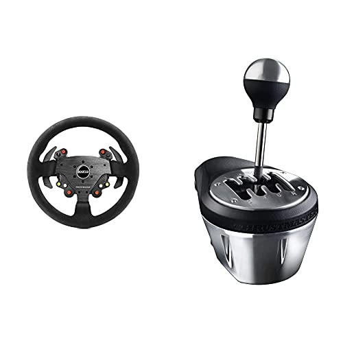 Oferta de Thrustmaster TM Rally Wheel AddOn Sparco R383 Mod (Steering Wheel AddOn, 33cm, Suede, PS4 / PS3 / Xbox One / PC) + TH8A - Palanca de cambio, Multiplataforma, Cambio Manual y Secuencial