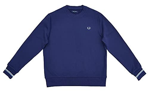 Fred Perry Herren Crew Neck Sweatshirt M7535 Blau Carbon Blue XXL
