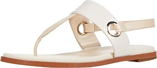 Cole Haan womens ANERA SANDAL BRAZILIAN SAND IVORY LEATHER 5 medium US product image