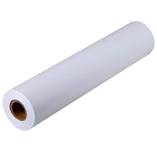 STOBOK Weiße Zeichenpapierrolle Malpapierpapierrollen für Kinder Kunst- Und Bastelmalerei, 2 Rollen (30 Cm X 5 M)