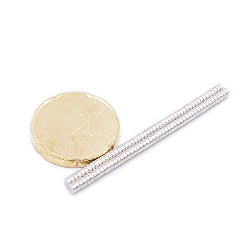 Brudazon | 90 Mini Magneti Dischi da 2x1mm | Grado Magnetico N52 - magneti in neodimio Ultra potenti | magneti per modellismo, Foto, lavagne magnetiche | Piccoli, Rotondi ed Extra potenti