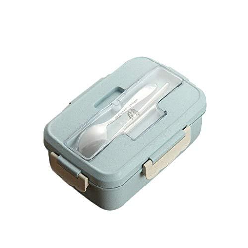 Aploa Brotdose Mit Fächern Bento Box Eco-Lunchbox Brotdose BPA-Frei Mit Besteck Lunch-Boxen Auslaufsicher Lebensmittelbehälter Bento Lunchbox Für Arbeit, Schule, Reisen, Camping, Büro