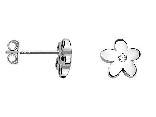 SOFIA MILANI - Damen Ohrringe 925 Silber - Ohrstecker als Blume - 20278