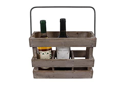 Van Manen Drewniana skrzynka na wino (drewniana skrzynka / skrzynka na 3 butelki) 081490
