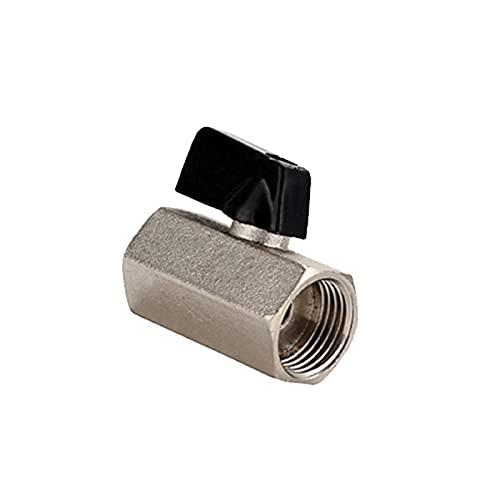 TONGTAIRUI-LIGHTS Liuballvalve 3/8 'hembra x 3/8' rosca hembra 2Way latón mini válvula de bola compresor de aire accesorios para agua aceite aire