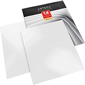 Arteza Heat Transfer Vinyl White HTV Bundle 14 Iron On Sheets 10x12 Inches Flexible & Easy to Weed Use with Any Craft Cutting Machine Boxed