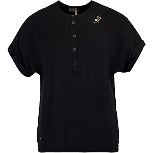 Ragwear Ricota - Camiseta para mujer Negro S