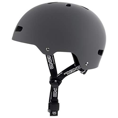 O'Neal Dirt Lid ZF Bones Fahrrad MTB BMX Helm Mountain Bike FR Fidlock Magnet Verschluss, 0584-B, Grau, Gr.- M/L (56-58cm ) - 4
