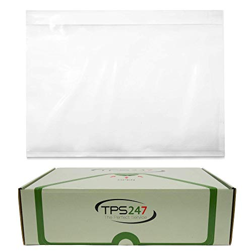 90x TPS247 Lieferscheintaschen - Dokumenttaschen DIN C6 für A6 transparent selbstklebend (90)