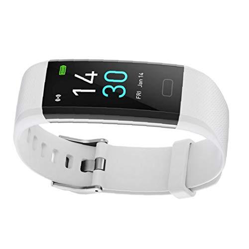 Gracy Inteligente Reloj Pulsera rastreador de Ejercicios S5 Temperatura Actividad del sueño del Ritmo cardíaco Impermeable para Las Mujeres de los Hombres Blancos, Reloj Elegante