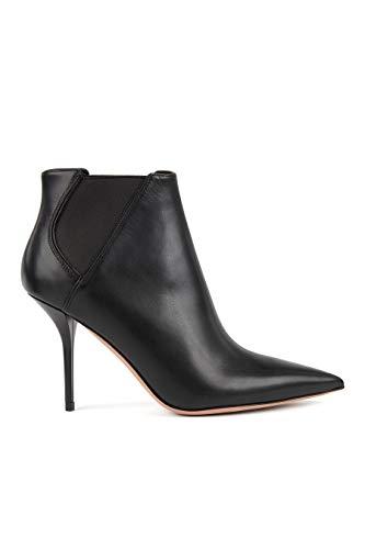 BOSS Stiefel mit hohem Absatz aus italienischem Leder mit elastischen Paneeln, schwarz - Größe: 39...