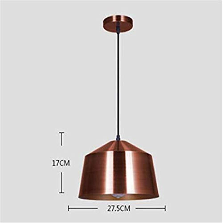 Vintage Kronleuchterkronleuchter Unterputz Hngen Beleuchtung Antike Halogen Eisen Suchscheinwerfer Wohnzimmer E27  1 Kupfer (uere Gebürstet Rot Bronze Inner Gold)