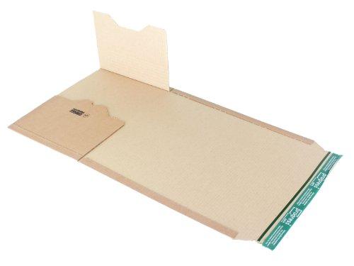 progressPACK Universal-Versandverpackung Premium PP B02.17 aus Wellpappe, DIN B4, 378 x 295 x bis 80 mm, 20-er Pack, braun