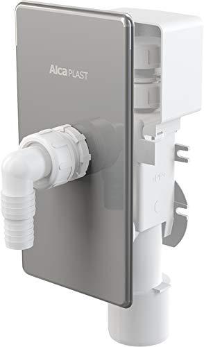 AlcaPlast APS3P inbouwsifon met beluchter afvoerwateraansluiting voor wasmachine, vaatwasser, warmtepompdroger