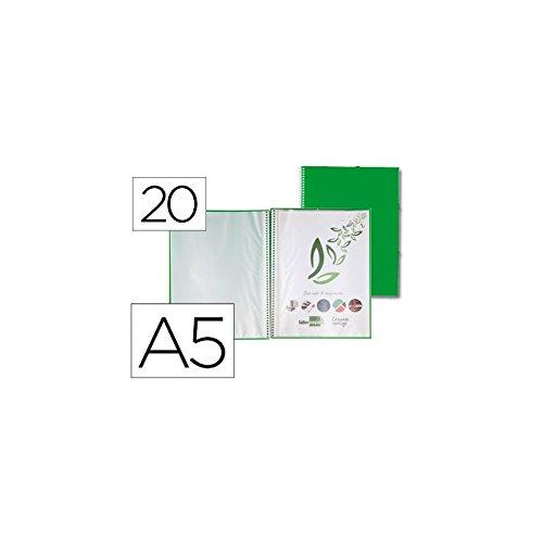 Liderpapel EC48 - Carpeta escaparate con espiral, A5, color verde