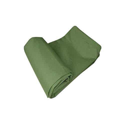HAI RONG Lona impermeable resistente al agua, protector solar engrosamiento para camión, toldo aislante para exteriores, tela de lluvia, tela verde militar, 3 – 8 m (tamaño: 3 x 3 m)