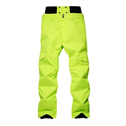 Queenhairs Pantalones de esquí de Invierno para Hombres Pantalones de Snowboard Acolchados Impermeables al Aire Libre para Exteriores