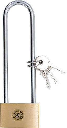 Kraftmann 3103 | Messing-Vorhängeschloss | extra hoher Bügel | 40 mm