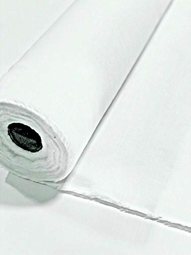 Bright White Interlining Flannel Fabric Cotton Single Nap 54