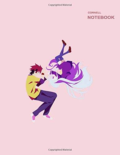 Shiro & Sora Poster No Game No Life Notebook: 110 Pages, 8.5  x 11  (Letter), Cornell notes.