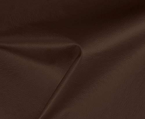 HAPPERS 1 Metro de Polipiel Especial Exterior para tapizar, Manualidades, Cojines o forrar Objetos. Venta de Polipiel por Metros. Diseño Náutica Color Marrón Ancho 140cm