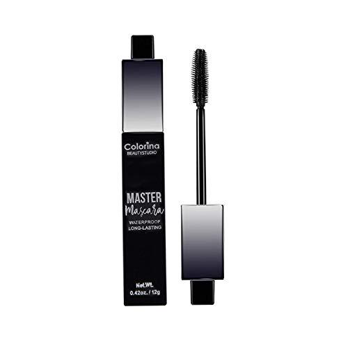 Mascara Wasserfeste Wimperntusche, 4D Silk Fibre Lash Mascara Schwarz für längere, dickere,...