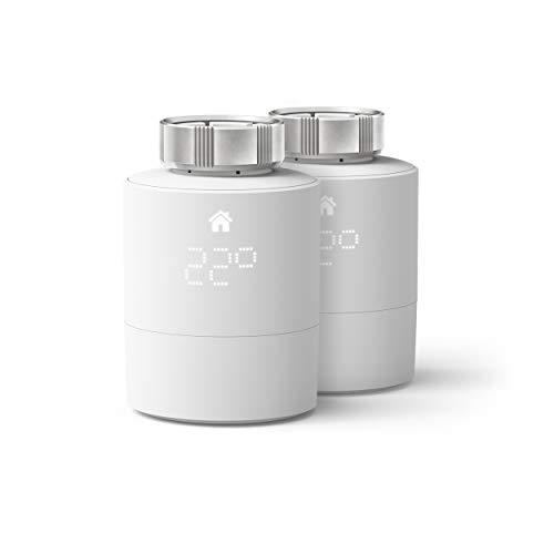 tado° Cabezal Termostático Inteligente - Pack Duo, Accesorio para control de habitaciones múltiples, control de calefacción inteligente, Instálalo tú mismo, Blanco