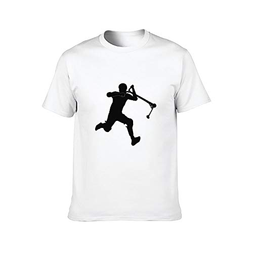DKISEE Stunt Scooter Kickless - Camiseta de manga corta para hombre ComfortSoft, color blanco